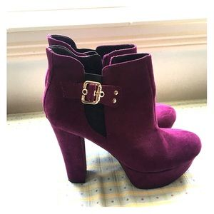 Purple booties by Guess